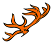 Deer Rack Orange Cut Image