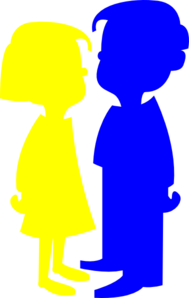 Yellow And Blue Clip Art