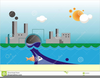 Clipart Of Water Pollution Image