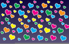 Colorful Hearts Background Image