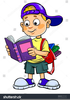 Clipart Kid Reading Book Image