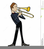 Trombone Player Clipart Image