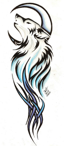 Tribal Wolf Tattoo By Reighnmiyuki Image