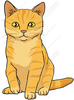 Orange Tabby Cat Clipart Image