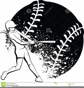 Softball white. Free black and clipart