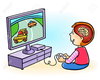 Boy Playing Video Games Clipart Image