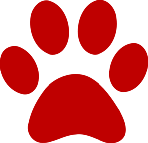 Image result for red paw print