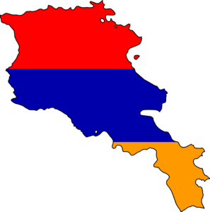 Armenia Flag Map Image