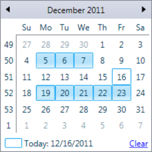 Monthcalendarselection Image