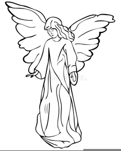 Angel white. Free clipart black and