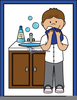 Wash Your Face Clipart Image