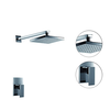 Single Handle Rain Chrome Wall Mount Shower Faucet--faucetsuperdeal.com Image