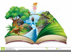 Open Story Book Clipart Image