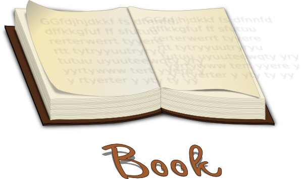 clip art book open. Open Book Clip Art. Open Book
