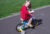 Girl Riding Bicycle Image