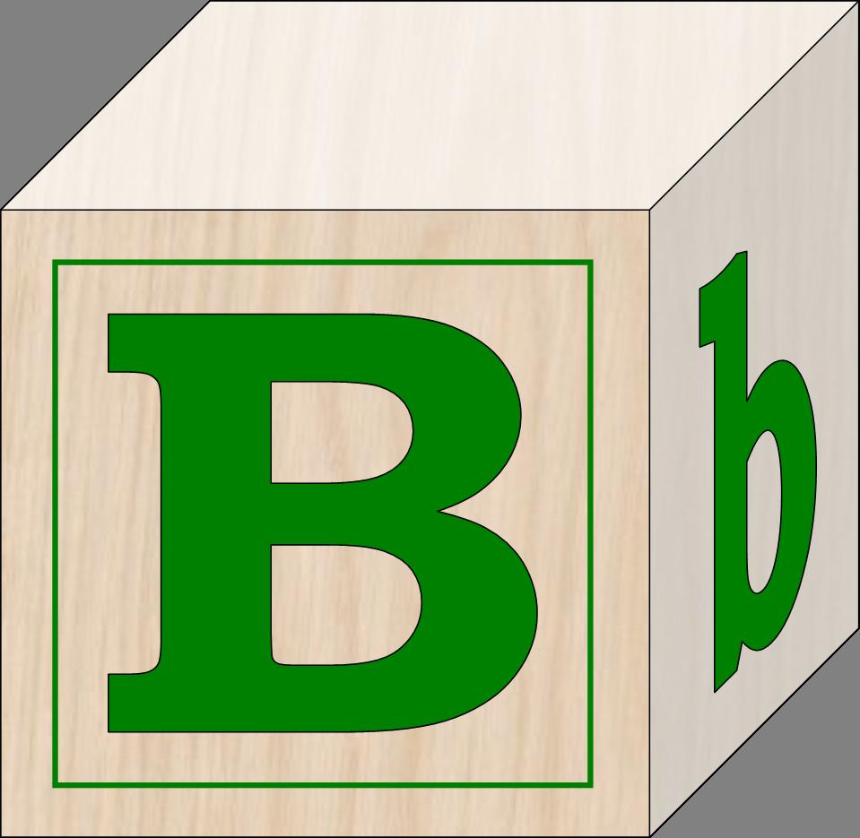 Blocks B | Free Images at Clker.com - vector clip art online ...