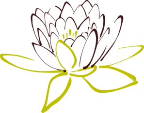 Brown Lotus Clip Art