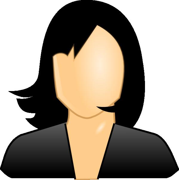Black Hair Lady Clip Art at Clker.com - vector clip art ...