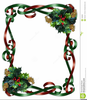 Holly Ribbons Clipart Image