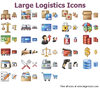Large Logistics Icons Image