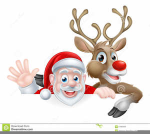 Christmas Clipart Santa.Christmas Clipart Santa And Reindeer Free Images At Clker