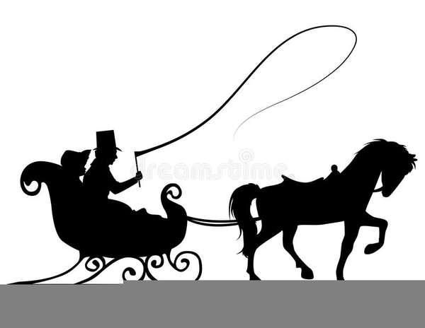 Free Horse And Sleigh Clipart Free Images At Clker Com Vector