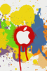 Apple Color Splash Effect Iphone Wallpaper Ilikewallpaper Com Image