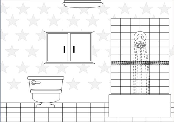 Bathroom Bw Free Images At Clker Com Vector Clip Art