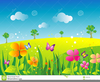 Free Clipart Of Flower Gardens Image