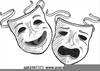 Drama Masks Faces Clipart Image