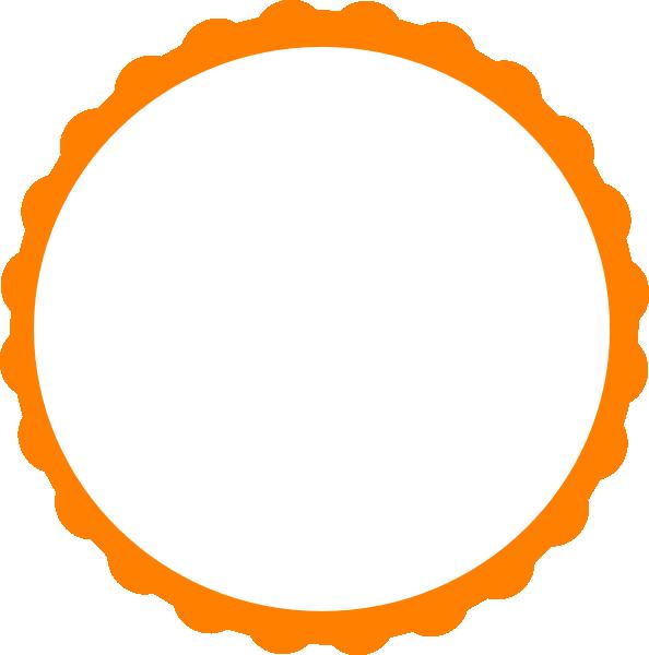 Pink Scallop Circle Frame clip art