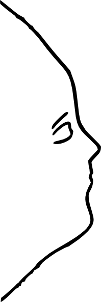 Human Face Sideview Outline Clip Art At Clker Com Vector Clip Art Online Royalty Free Public Domain