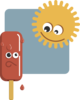 Popsicle And Sun Clip Art