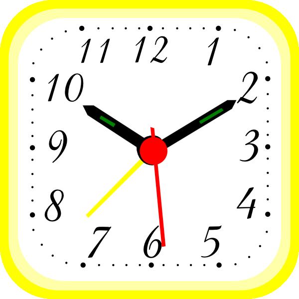 Yellow Alarm Clock Clip Art At Clker Com Vector Clip Art Online Royalty Free Public Domain