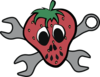 Strawberry Skull-mechanic Clip Art