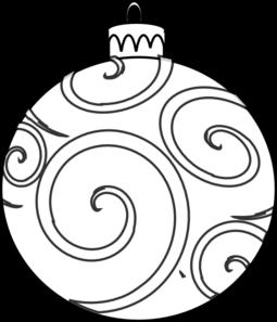 Swirl Ornament Outline Clip Art