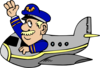 Pilot Flying Airplane Clip Art