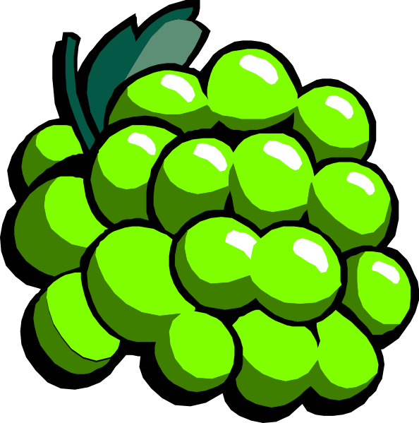 Green Grapes Clip Art at Clker.com - vector clip art ...