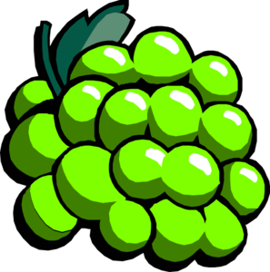 Green Grapes Clip Art