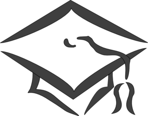 Dark Gray Mortarboard Clip Art