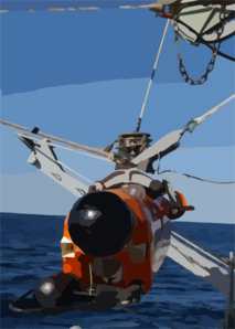 An An/slq-48 Mine Neutralizer Is Hoisted Over The Side Of Pioneer For A Planned Mine Sweeping Exercise Off San Clemente Island. Clip Art