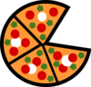Pizza Slices Clip Art