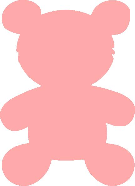 Bear pink. Clip art at clker