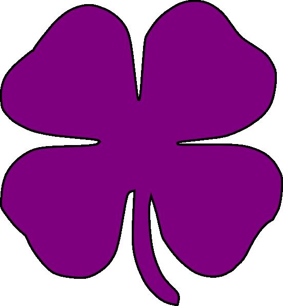Purple Shamrock Clip Art at Clker.com - vector clip art online ...