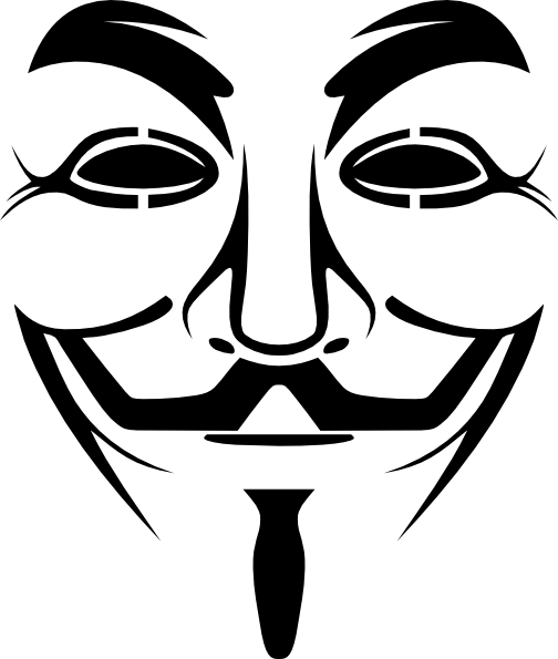 Guy fawkes mask clip art at vector clip art for Mf doom tattoo