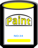 Yellow Paint Can Clip Art