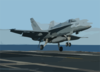 An F/a-18c Hornet Lands On The Flight Deck Clip Art