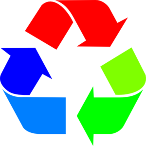Red, Blue, Green Recycling Clip Art