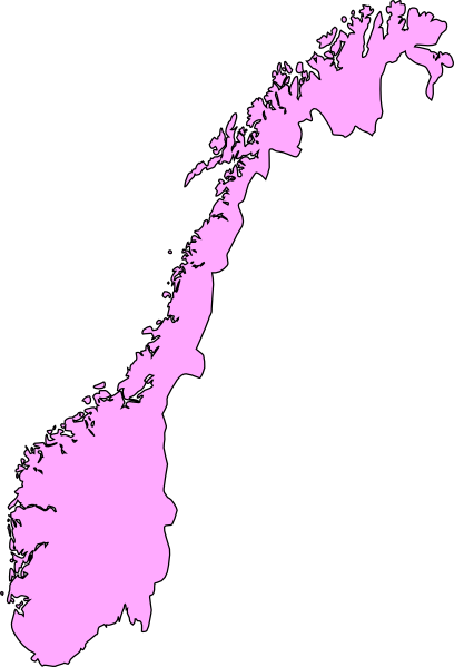 Norway Clip Art At Clkercom Vector Clip Art Online Royalty - Norway map free