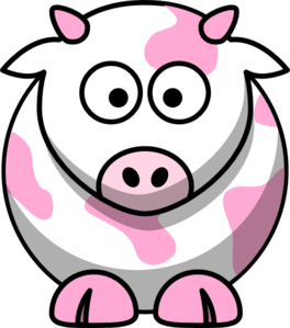 Light Pink Cow Clip Art at Clker.com - vector clip art online, royalty ...